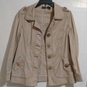Willi Smith Stretch Khaki Jacket